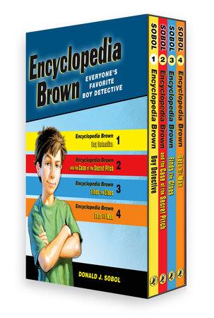 Encyclopedia Brown Box Set (4 Books) by Donald J. Sobol