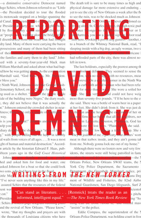 Reporting by David Remnick