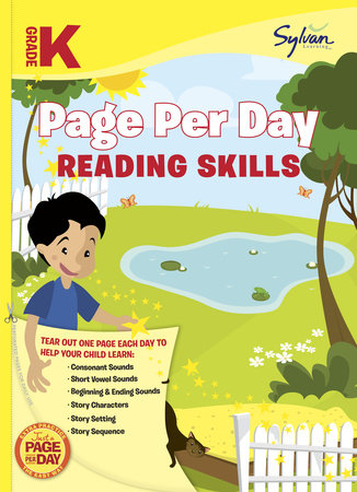 Kindergarten Page Per Day: Reading Skills by Sylvan Learning