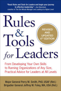 Rules & Tools for Leaders
