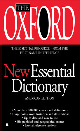The Oxford New Essential Dictionary by Oxford University Press