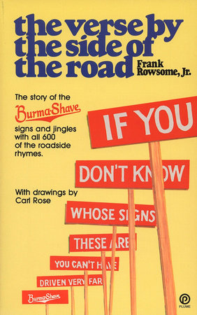Verse by the Side of the Road by Frank Rowsome, Jr.