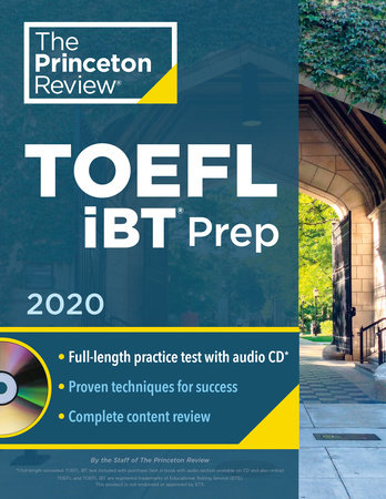 Princeton Review TOEFL iBT Prep with Audio CD, 2020 by The Princeton Review