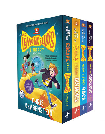 Mr. Lemoncello's 4-Book Boxed Set and Poster by Chris Grabenstein