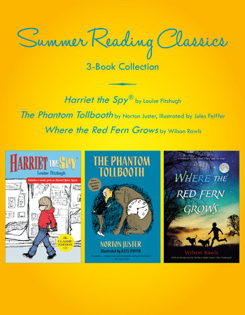 Summer Reading Classics Three-Book Collection by Louise Fitzhugh, Norton Juster and Wilson Rawls