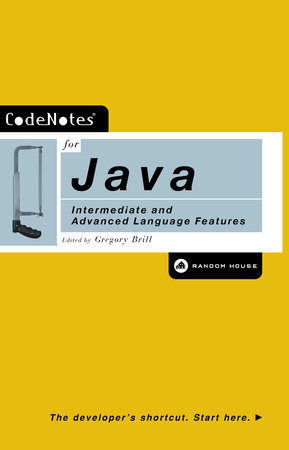 CodeNotes for Java by Gregory Brill