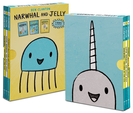 Narwhal and Jelly Box Set (Books 1, 2, 3, AND Poster) by Ben Clanton