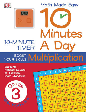 10 Minutes a Day: Multiplication, Third Grade