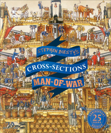 Stephen Biesty's Cross-Sections Man-of-War by Richard Platt