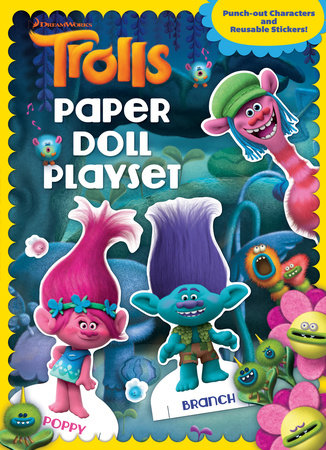 Trolls Paper Doll Playset by Golden Books