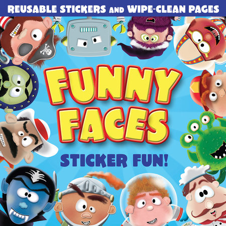 Funny Faces Sticker Fun! (Blue) by Tiger Tales