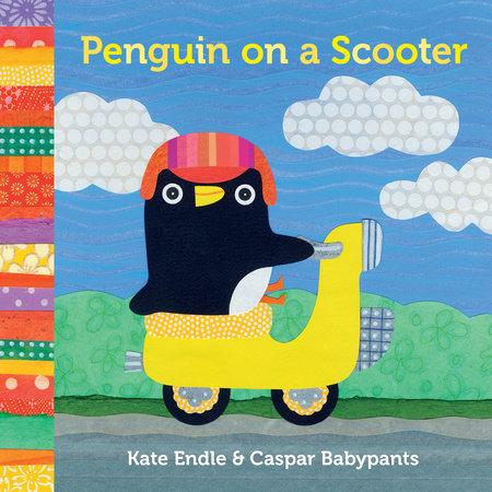 Penguin on a Scooter by Caspar Babypants