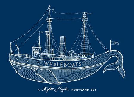 Whaleboats: A Kyler Martz Postcard Set by Kyler Martz