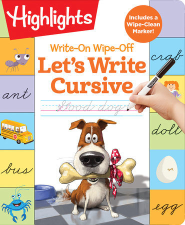 Write-On Wipe-Off Let's Write Cursive by Highlights Learning