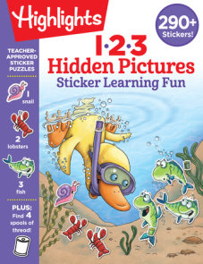 123 Hidden Pictures Sticker Learning Fun