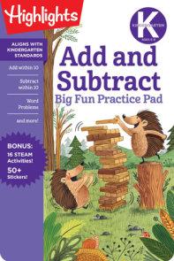 Kindergarten Add and Subtract Big Fun Practice Pad