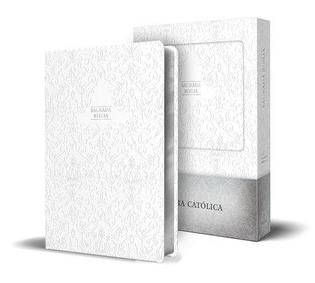 Biblia Católica en español. Boda, bautizo, primera comunión, confirmación y cumpleaños. Caja blanca regalo / Catholic Bible. Spanish-Language, Leathersoft, by