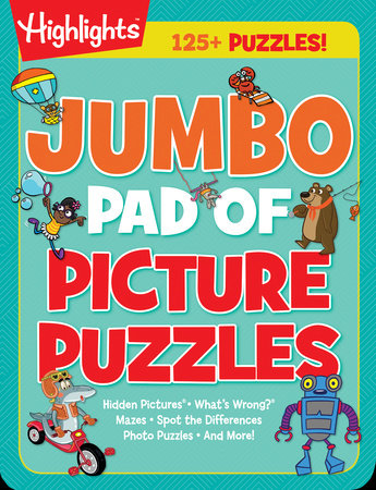 Jumbo Pad of Picture Puzzles by