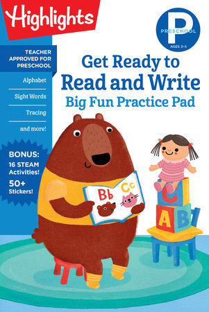 Preschool Get Ready to Read and Write Big Fun Practice Pad by