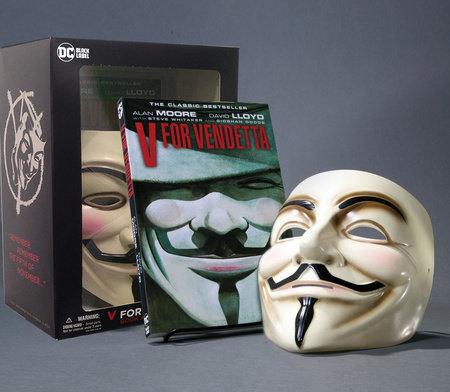 V for Vendetta Book & Mask Set by Alan Moore