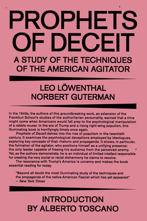 Prophets of Deceit by Leo Lowenthal and Norbert Guterman