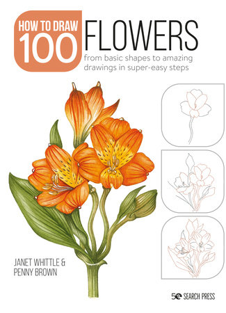 How to Draw 100: Flowers by Janet Whittle and Penny Brown