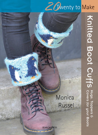 Knitted Boot Cuffs by Monica Russel
