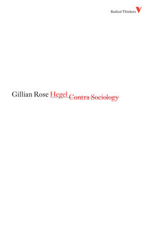 Hegel Contra Sociology by Gillian Rose
