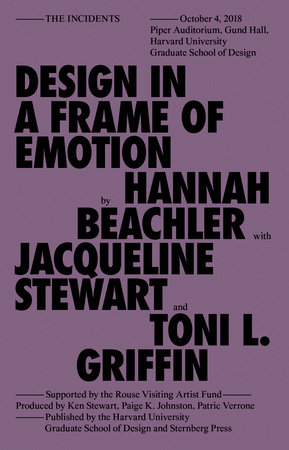 Design in a Frame of Emotion by Hannah Beachler